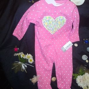 NWT CARTERS BABY GIRL ONEZIE 6M